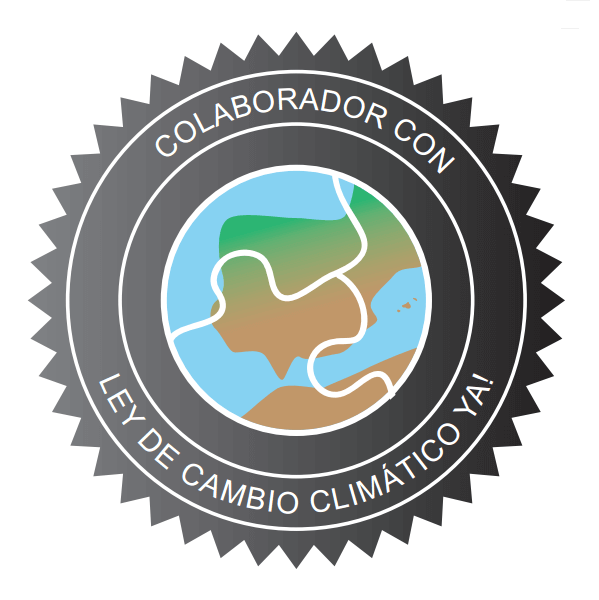 Insignia que demuestra que apoyamos una Ley de cambio climático
