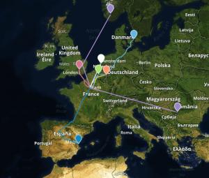mapa europeo de rutas